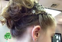 Cute hairstyle / Ready for father daughter dance