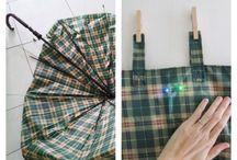 upcycled umbrella fabrics