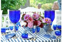 Blue & White Table