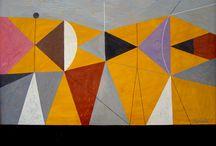 Mid Century & Bauhaus Patterns / A new love - mid century paintings.