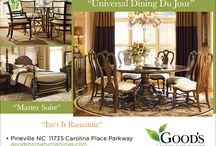 Universal Furniture Best in Show / Dinner is served. Everyone will want to set the table. The recipe is an inspired mix of new traditions and old favorites by Universal Furniture in Charlotte North Carolina, available at Good's Home Furnishings in Pineville NC. Universal Bedrooms and Dining Rooms. / by Good's Home Furnishings
