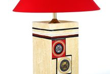 Wood Crafted lamp with Cream Shade