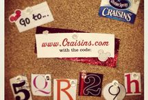 Codes for Ocean Spray Craisins Sweepstakes