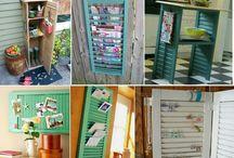 Decor - DIY with Window Frames & Shutters