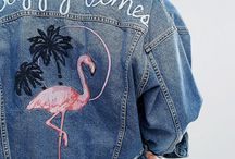 Jeans Jacket Inspiration / Inspirational examples of up cycled jeans jackets