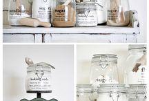 vinilos para frascos de la cocina