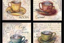 Декупаж чай,кофе