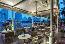 River Bar - Bangkok / One of the signatures of the Bangkok skyline, The Peninsula Bangkok offers unmatched luxury alongside the Chao Phraya River.  At its base, guests will discover the crown jewel of the river, River Bar, which offers an exquisite cocktail culture experience right at the water's edge. http://hotelcocktail.com/bangkok-river-bar/