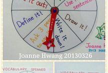 vocabulary spinning