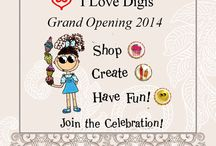 I Love Digis a beginning... / I Love Digis, an online boutique for scrapbookers, card makers, and crafters from the planning stages to the grand opening.
