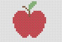 Cross stitch food / Fruit and veg cross stich patterns as well as burgers and more...
