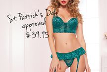St Patrick's Pleasure / With all these sexy lingerie, you won't need the luck of an Irish to get lucky tonight!