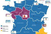 Carte interactive (apprentissage aux professions sanitaires et sociales))