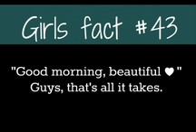 facts about girls. ❤
