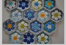 Colcha em crochê flores