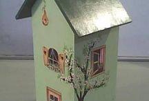 роспись домиков