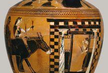 La boda griega / Imágenes de cerámica griega que describen los pasos de una boda griega