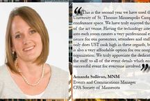 Testimonials / University of St. Thomas Conference & Event Services is dedicated to the highest level of satisfaction. We are proud to share testimonials from clients who continue to utilize St. Thomas year after year.  Read more: stthomas.edu/eventservices/testimonials