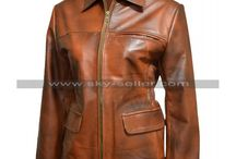 Katniss Everdeen Hunger Games Brown Jacket / Get this sophisticated Jennifer Lawrence Hunger Games Leather Jacket at most cheap price from Sky-Seller with free Shipping