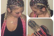 Braids / Tranças por todo o lugar!  Box braids e suas variantes.