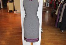 Lina Liri's Elegant High Fashion De Poule Dress Straight Line. / Lina Liri's Elegant High Fashion Pie De Poule Dress Straight Line.