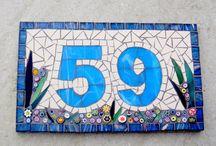 Mosaic straatnommwrs