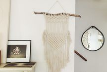 Knotted / Macrame. Weaving. Fiber art.