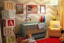 Baby Room Ideas / At More Style Than Cash I believe it doesn't take piles of money to live well. Here are great ideas showing how to decorate the baby's room inexpensively.