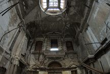 Abandoned churches and other buildings