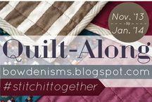 Quilt-along: #stitchittogether  / Nov13-Jan14 http://bowdenisms.blogspot.com/search/label/stitchittogether