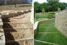 w la différence / le diverse differenze dei materiali: durante e dopo la posa in opera, nelle diverse stagioni, .....