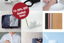 Promotions / Sales, promotions and special events in MUJI Canada stores.