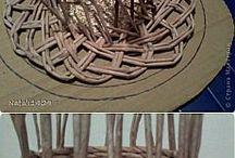 papírové pletení i