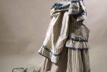 1870s Big Froufy Gown