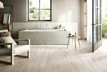 Porcelain / Wood and stone are the perfect solution in most situations. There are certain environments where even the toughest organic product is not the best choice. Our range of porcelain floor and wall tiles are an ideal alternative to natural materials in demanding areas like kitchens, shower rooms, wet rooms, spas and saunas. They can be used to link indoor and outdoor rooms seamlessly or as safe and durable surfaces poolside and on the terrace.