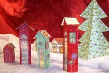 hus av papir/kartong