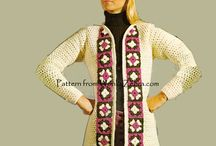 get your granny square coat on / vintage crochet granny square coats and jackets