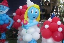 palloncini personaggi puffi