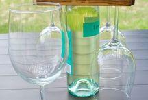 bottle wine glass holder