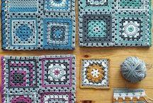 Horgolt patchwork