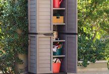 Outdoor Storage Cabinet Heavy Duty Plastic Patio Garden Garage Organizer Shelves