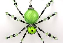 Spiders made in beads