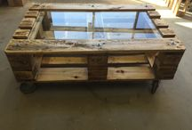 Pallet sofa table / table