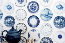blue china wall paper