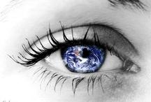 eyes moon#eyes earth#universe#stars