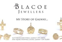 Story of Galway Collection / Blacoe Jewellers has exclusively created the #Story of Galway ring designed to represent the historic sites and ways of life of Galway and its people. Available in silver, 9ct, 14ct and 18ct gold and platinum. Also available in diamond set. Other designs in Blacoe Story of Galway include, pendants, crosses, cufflinks and a tie tacks.