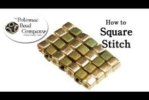 Square stich / Squarte stich - inspirations and tutorials