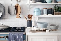 Stylish Kitchens / Too pretty to keep in the cupboards, these stylish tea towels, tea pots and wine glasses should take pride of place.  / by Sainsbury's