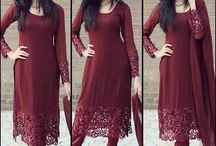 maroon dress with lace