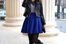 Blue skirt (how to wear it)